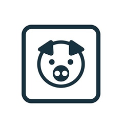 pig icon Rounded squares button vector image