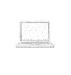 polygon laptop isolated on white background vector image