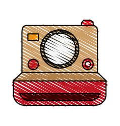Retro photo camera icon vector