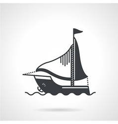 Sailing yacht black icon vector image