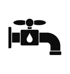 save water tap icon simple style vector image