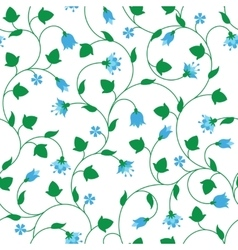 Seamless floral pattern with tiny blue flowers vector