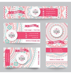 Set corporate identity templates with doodles vector
