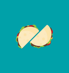 simple taco in flat style vector image