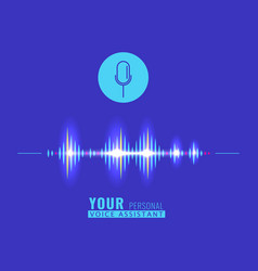 sound wave for personal assistant and voice vector image
