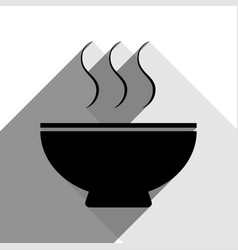 soup sign black icon with two flat gray vector image
