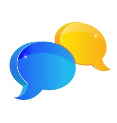 speech or chat icon vector image