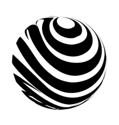 sphere planet symbol icon vector image