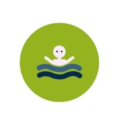 stylish icon in color circle man swimmer vector image