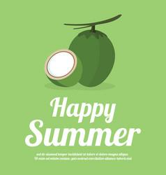 Summer holiday and summer camp vector