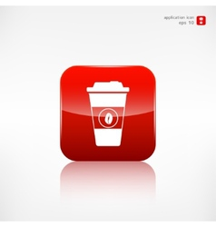 Takeaway paper coffee cup icon vector image