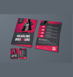 template of black brochure with place for photo vector image