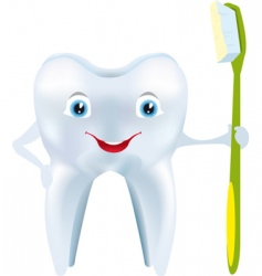 Tooth smile vector