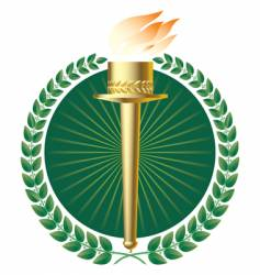 torch symbol vector image