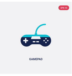 two color gamepad icon from entertainment concept vector image