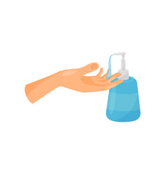 Washing hands with liquid soap prevention of vector