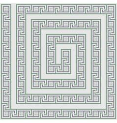 Greece maze light ornament vector image vector image
