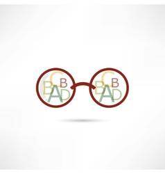 reading glasses icon vector image
