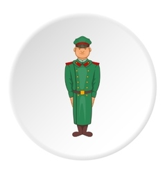 Soldiers in uniform icon cartoon style vector image