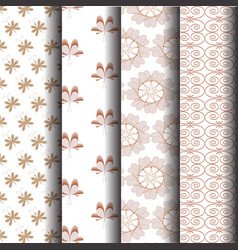 brown sets geometric patterns vector image vector image