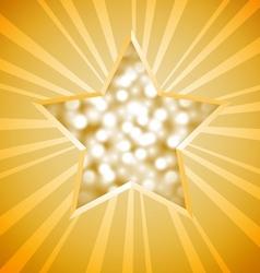 Christmas star card vector image vector image