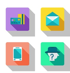 Finance and cooperation flat Icons vector image
