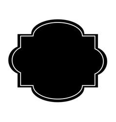 label sticker decoration stamp pictogram vector image