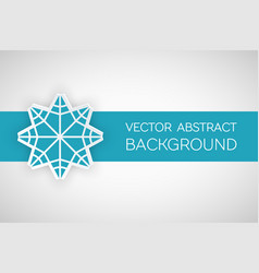 origami paper decorative banner vector image