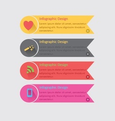 Colorful Infographics vector image vector image