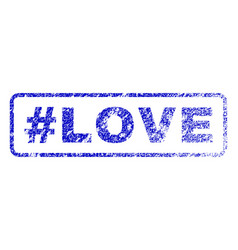 hashtag love rubber stamp vector image vector image