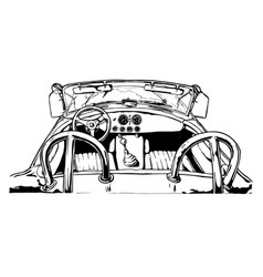 Sport car interior vector