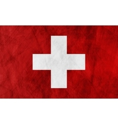 Swiss grunge flag background vector image vector image