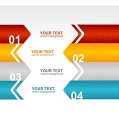 Arrow speech templates for text 1 2 3 4 vector image vector image