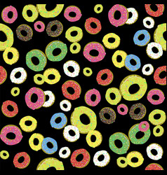colorful fresh sweet donuts seamless pattern vector image