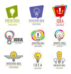 creative idea business logo set vector image