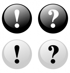 exclamation question buttons vector image vector image