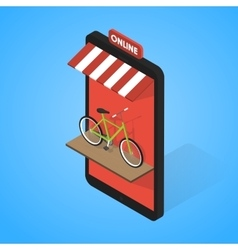 Mobile supermarket internet commerce concept vector image vector image
