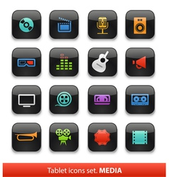 Tablet buttons collection isolate vector image