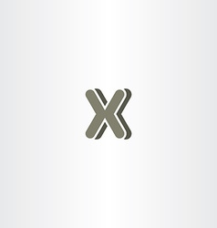 X letter logo logotype icon symbol company sign vector