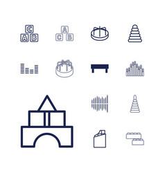 13 block icons vector