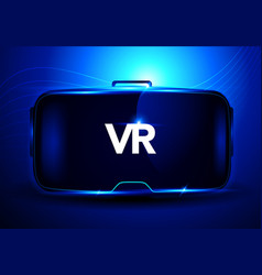 3d virtual reality glasses vvr interface vector image