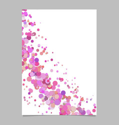 Abstract blank curved confetti page background vector