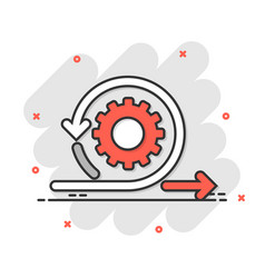 Agile icon in comic style flexible cartoon on vector