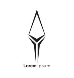 Arrowhead spear logo vector
