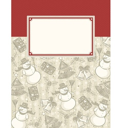 background with christmas elements and label for m vector image