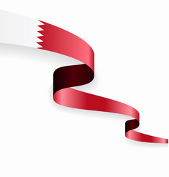 bahrain flag wavy abstract background vector image