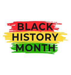 Black history month banner template vector