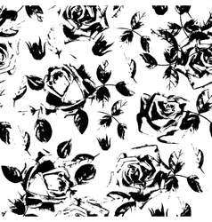 Black roses grunge seamless pattern Stylish vector