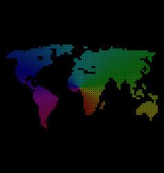 Bright dot world map vector