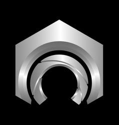 C letter logo hexagon shape letter business vector